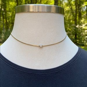 "Avon Sterling Silver & 1/20 14K GF Necklace 17"""
